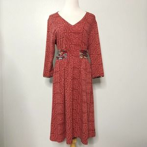 Matilda Jane Ariana Paisley Tie Waist Dress